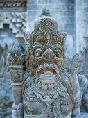 picture of immoral  - Stone sculpture on entrance door of Pura Padmasana Puja Mandala temple - JPG