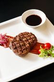 image of chateaubriand  - meat steak with sauce - JPG