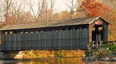pic of covered bridge  - A photograph of an historic covered bridge in central Michigan - JPG