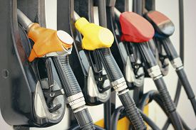 picture of gas-pipes  - Fuel pumps at gas station  - JPG