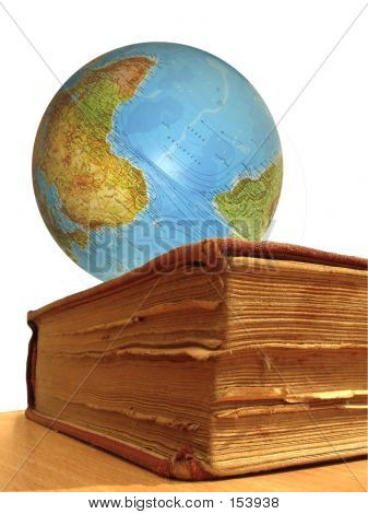 Book And Globe poster