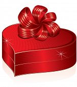 Stylized heart shaped gift box-vector clip art