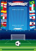Detailed soccer poster for your text or image-inc soccer stadium,ball,goal,national flags -MORE SIMI