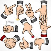Set of Businessman Hand Gestures-detailed vector design elements-- to see more hands  please visit t