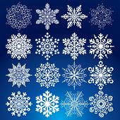 Decorative vector Snowflakes set - winter series clip-art