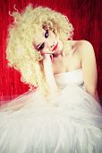 Beautiful upset blonde