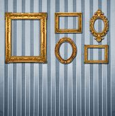 Gold frames, retro wallpaper, similar available