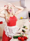 Crazy housewife is having fun in the kitchen, similar available in my portfolio