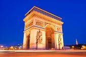 The Triumphal Arch, Paris at night