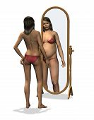 Anorexia - Distorted Body Image