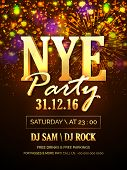 Elegant glossy Flyer, Banner, Pamphlet or Invitation Card for New Years Eve Party Celebration. poster