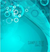 Vector techno wave. Abstract background design