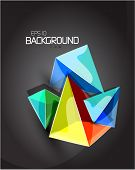 Pyramid vector abstract background