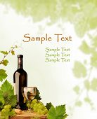 Wine motive background for wine list and other occasions