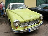 RATIBORICE, CZECH REPUBLIC - AUGUST 7: IX. Vintage car show  - Wartburg model from 1963.  August 7,
