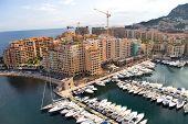 France, Monaco. Moorage and yachts.