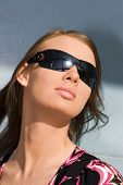Young woman in sunglasses. Portrait.