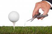 green.metaphor de bola de golfe para serviço e perfeição
