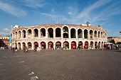 picture of aida  - Arena in verona in afternoon light shortly before the doors open for the masterpiece of verdi - JPG