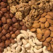 Different nuts (almons cashews walnuts