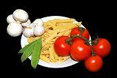 Pasta Tomato Garlic And Pea