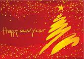 New year decoration #1. Vector illustration.