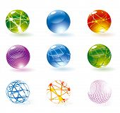 stock photo of refraction  - Refracting spheres - JPG