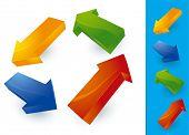 Color arrows. Vector.