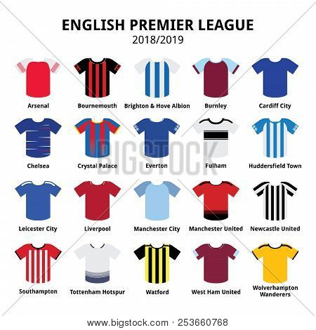 Poster: English Premier League Kits 2018