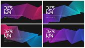 Set Of Abstract Gradient Geometric Designs, Colorful Minimalist poster