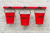 Three Fire Buckets