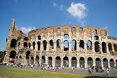 Coliseum Colosseum Tag Zeit Touristen Rom