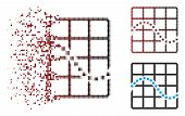 Vector Function Chart Icon In Fractured, Dotted Halftone And Undamaged Entire Variants. Disintegrati poster