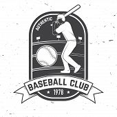 Baseball Or Softball Club Badge. Vector Illustration. Concept For Shirt Or Logo, Print, Stamp Or Tee poster