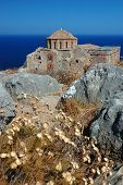 Church Of Agia Sofia Of Byzantine Town Monemvasia At The East Coast Of The Peloponnese,greece