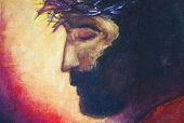 Jesus Christ Icon. Original Oil Painting On Canvas poster
