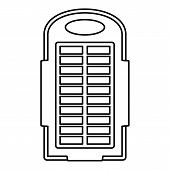 Power Bank Solar Panel Icon. Outline Illustration Of Power Bank Solar Panel Icon For Web Design Isol poster