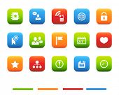 Social and media icons, blog