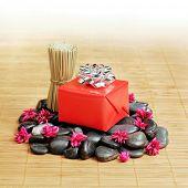 Gift in a spa like setting.