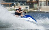 stock photo of waverunner  - action photo of middle - JPG