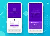 Conceptual Mobile Phone Mock-up For App Interface Presentation. User Interface Design Concept. Smart poster