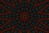 Psychedelic Kaleidoscopic Illusive Symmetrical Pattern As Background poster