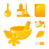 alternative medicines vector icons, science and medical research concept