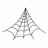 Strong Spiderweb Icon. Outline Illustration Of Strong Spiderweb Icon For Web poster