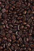 Texture Roasted Coffee Beans, Can Be Used As A Background. Brown Coffee Beans, Close-up Of Coffee Be poster