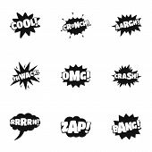 Movie Mark Icons Set. Simple Set Of 9 Movie Mark Icons For Web Isolated On White Background poster