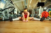 A Funny Fat Man With A Beard In The Gym poster