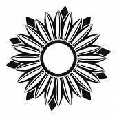 Ripe Sunflower Icon. Simple Illustration Of Ripe Sunflower Icon For Web poster