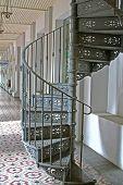 Architecture Ascend Bannister Brick Circular Climb Staircase