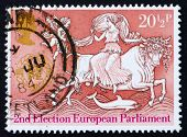 Postage stamp GB 1984 Abduction of Europa